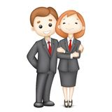 3d Business Man and Woman in Vector. Illustration of 3d business man and woman in Royalty Free Stock Photos