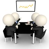 3D Business meeting Royalty Free Stock Photos