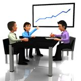 3D Business meeting Stock Photography
