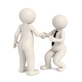 3d business men - Intimidating handshake. 3d men shaking hands - Business Intimidation Royalty Free Stock Images