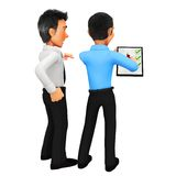 3D business men - puzzle assembling Royalty Free Stock Images