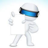3d Business Nan in vector showing Blank Card. Illustration of 3d business man in fully scalable vector  showing blank display card Royalty Free Stock Images