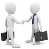 3d business people greet. 3d image. On a white background Royalty Free Stock Image