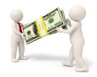 Free 3d Business People Handing Over A Pack Of Money Royalty Free Stock Image - 37700946