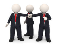 3d business people hands together united as team Stock Photography