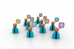3d business people icon with speech bubbles Royalty Free Stock Photography