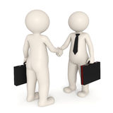 3d business people shaking hands Stock Photography
