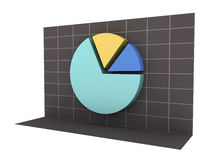 3D Business Pie Chart with Clipping Path Stock Photos