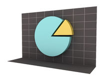 3D Business Pie Chart with Clipping Path Royalty Free Stock Images