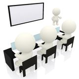 3D business presentation Stock Photo