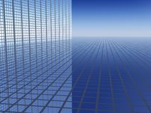 3D Business Progress Background. 3D Business Progress Grid Background Stock Images