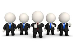 3D Business team Royalty Free Stock Photo