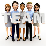 3D business team Royalty Free Stock Photography