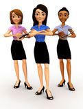 3D business women Stock Photography