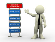 3d businessman and customer satisfaction Royalty Free Stock Images