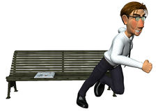 3d businessman fast news. Businessman fast news, this man is running to tell some news or to get a new job Royalty Free Stock Photo