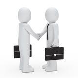 3d businessman handshake Royalty Free Stock Images