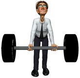 3d businessman heavy gym Stock Image