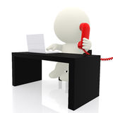 3d businessman on the phone Royalty Free Stock Photo
