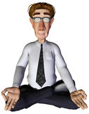 3d businessman yoga Stock Photos