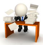 3D busy business man Royalty Free Stock Photo