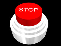 3d buton for stop Stock Images