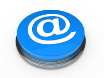3d button email blue Royalty Free Stock Photo