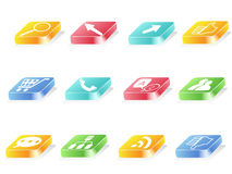 3d button icon. S for web design Royalty Free Stock Photo
