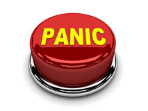 3d button red panic stop push. Concept illustration Royalty Free Stock Image