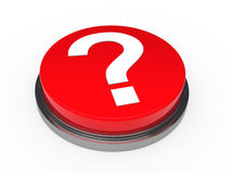 3d button red question mark. 3d button red with question mark sign Royalty Free Stock Images