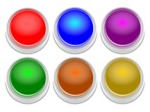3D Button Set. An set of colored 3D buttons Stock Image