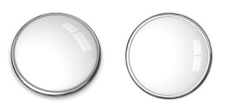 3D Button Solid White Stock Image