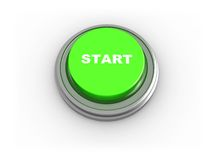 3d button - start Stock Photo