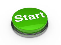 3d button start green Stock Images