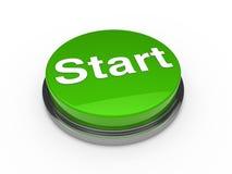 3d button start green. Push technology press Stock Images