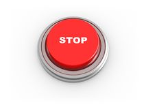 3d button - stop. 3d illustrtion of button with text 'stop' on it Royalty Free Stock Image