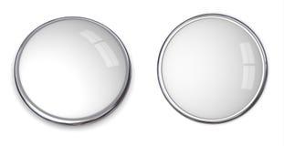 3D Button Template - 2 Views Stock Photos