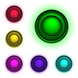 3d buttons,. High detailed 3d buttons for web design Stock Image