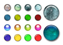 3d buttons. Big collections of 3d color web buttons Stock Photo