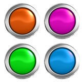 3D buttons Royalty Free Stock Photography