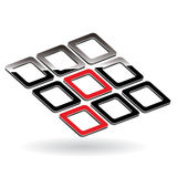 3d buttons Stock Photography