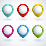3d buttons. Set of colorful 3d buttons Royalty Free Stock Photo