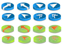 3D Buttons. Buttons and Design Elements easy to resize or change color Royalty Free Stock Image