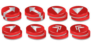 3D Buttons. Buttons and Design Elements easy to resize or change color Royalty Free Stock Photos