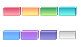 3d Buttons Stock Photo