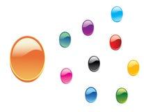 3d buttons glansig setvektorrengöringsduk Royaltyfri Fotografi