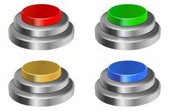 3d buttons glansigt Royaltyfria Foton