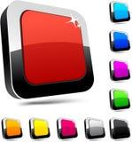 3d buttons rektangulärt Arkivfoto