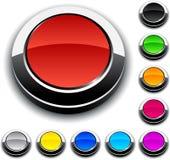 3d buttons runt royaltyfri illustrationer
