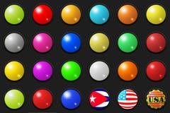 3d buttons stort stock illustrationer
